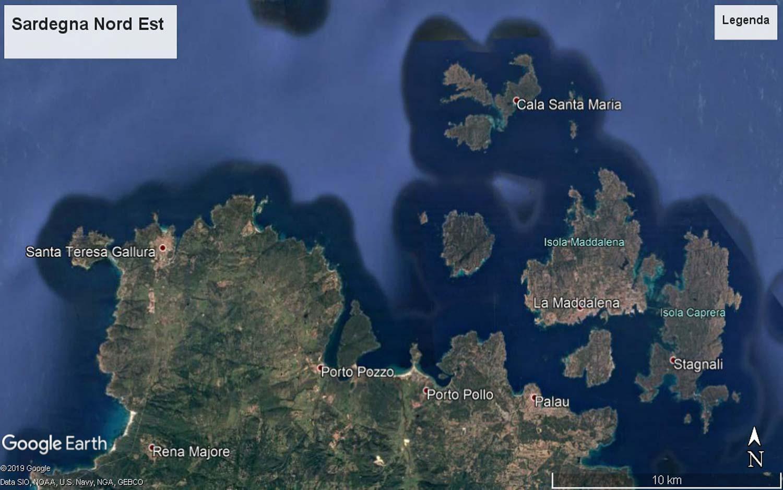 Mappa Km Sardegna.Mappa Sardegna Nord Est 1 Globesailor It Blog